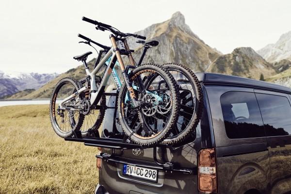 CROSSCAMP Fahrradträger für Heckklappe für 2 Fahrräder schwarz