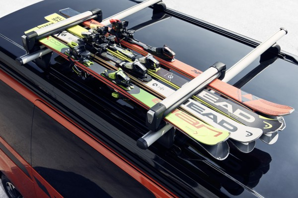 CROSSCAMP Ski- und Snowboardträger für Dachträger System für max. 4 Skipaare oder max. 2 Snowboards